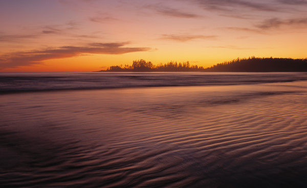 Sunset at Long Beach, Pacific Rim National Park, Vancouver Island, British Columbia, Canada