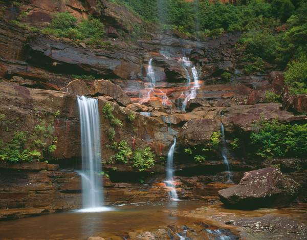 Wentworth Falls in Blue Mountains National Park, New South Wales, Australia