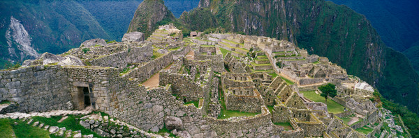 Machu Picchu high in the Andes Mountains of Peru