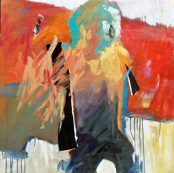 Walking Man by Cindy Holmes. Buy Art Online at Matt McLeod Fine Art Gallery.