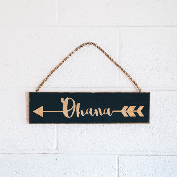 Rope Sign | Ohana Arrow