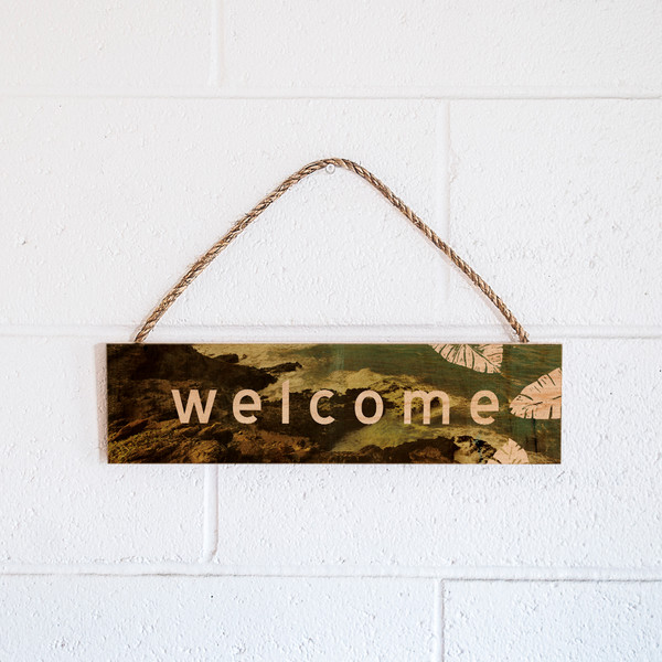 Rope Sign | Welcome