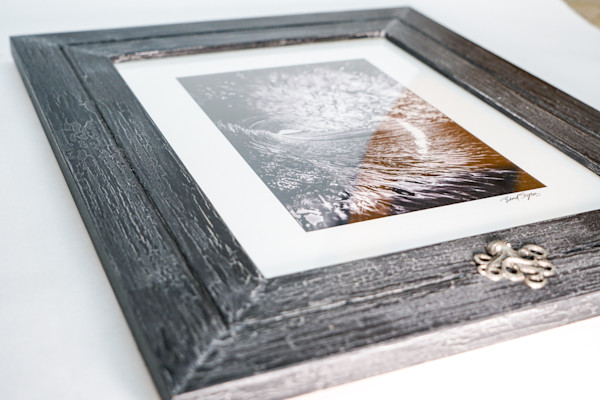 Black Pearl Wave Print Framed
