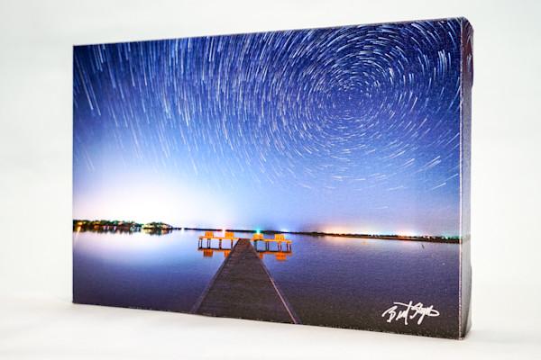 Star Trails Canvas by Brad Styron