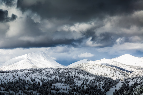 Old Glory Mountain Snow Landscape in Rossland from RED Resort Print