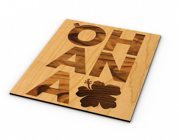 Laser Engraved Wood Cut Outs | Ohana