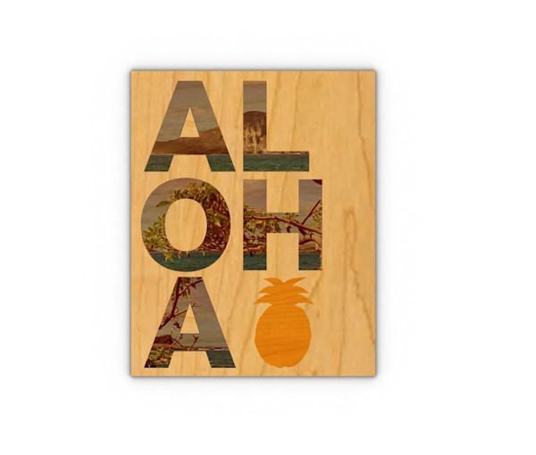 Laser Engraved Wood Cut Outs | Aloha