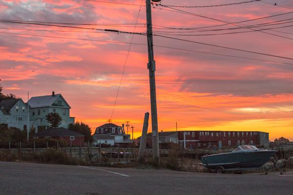 Fine Art Photograph - Brilliant Maine Sunset