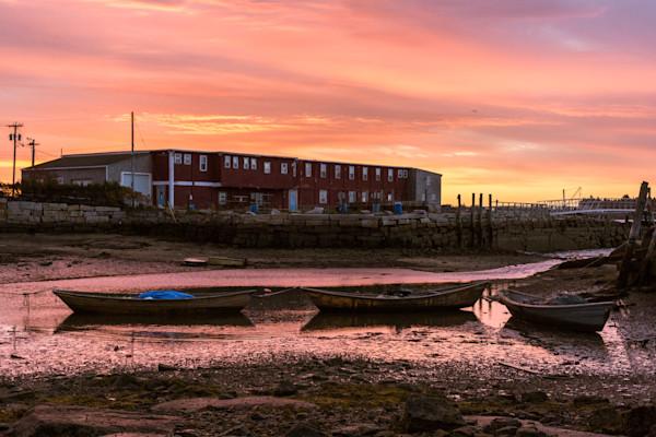 Fine Art Photograph - Three Boats at Sunset