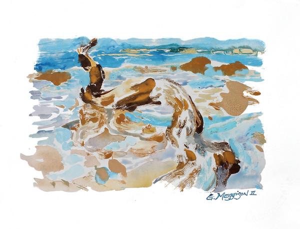 Memory of Something | Oil and Water Monoprints |Gordon Meggison IV
