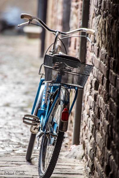 Blue Bicycle on Wall