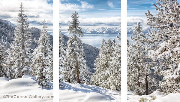 Clearing Tahoe Storm Triptych