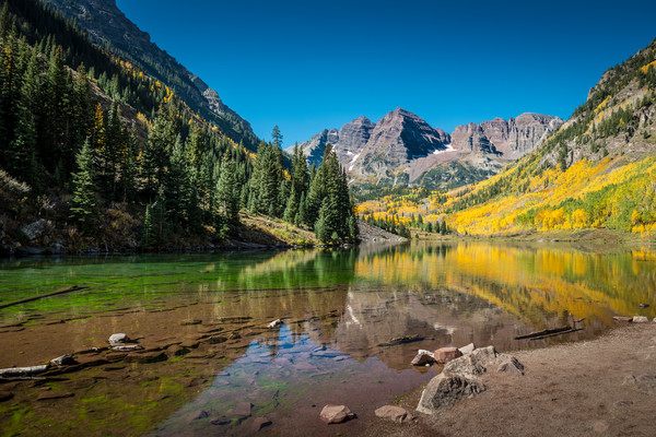 Aspen Maroon Bells and Maroon Lake Colorado Pictures for Sale