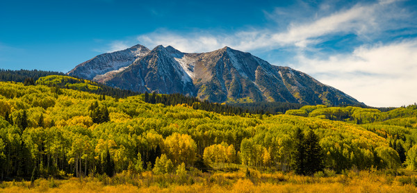 East Beckwith Mountain with Kebler Pass Fall Colors