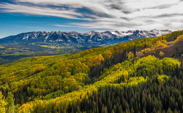 The Castles, West Elk Mountains, The West Elk Wilderness & Golden Aspen Trees