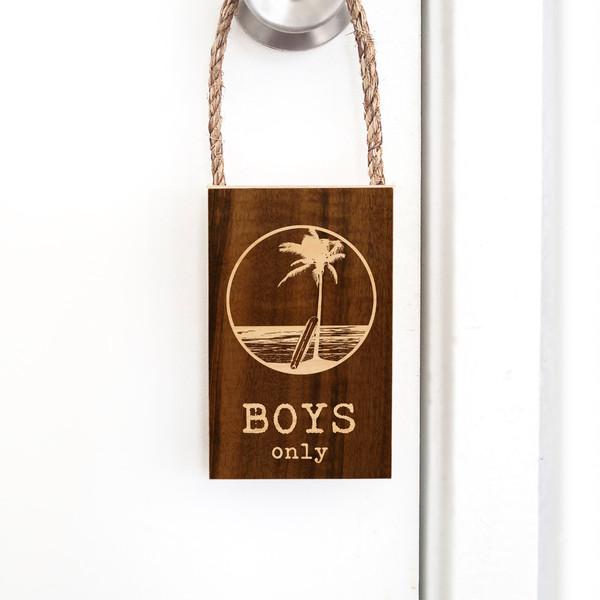 Door Hangers | Boys Only