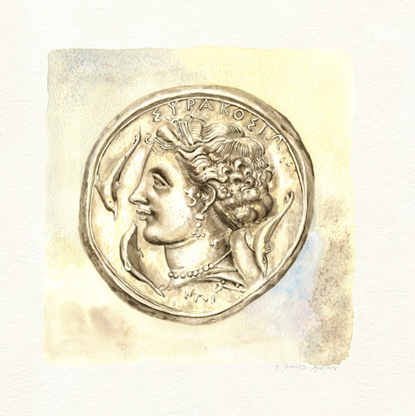 Ancient Coin IV by Ernie Francis | SavvyArt Market art print