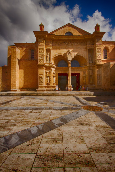 Fine Art Photograph of a Historic Santo Domingo Monument by Michael Pucciarelli