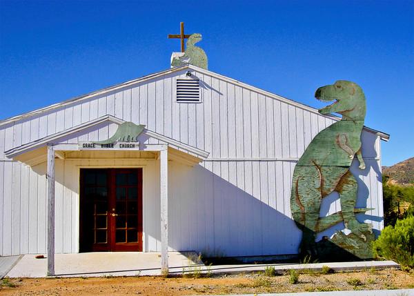 Church with Dinosaur