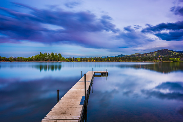Blue Hour Photography of Lake of The Pines Dock in Boulder Colorado