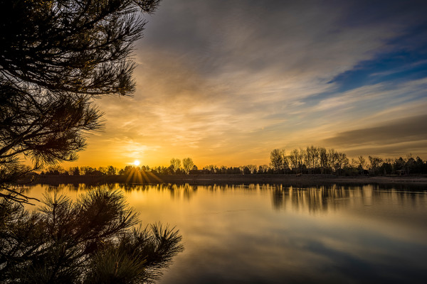 Photography of Stunning Sunrise at Lake of the Pines in Boulder Colorado