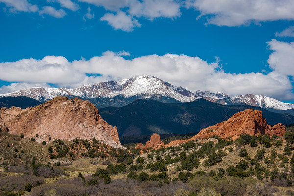 Colorado Landscape Photography Prints Garden of The Gods Pikes Peak Snow