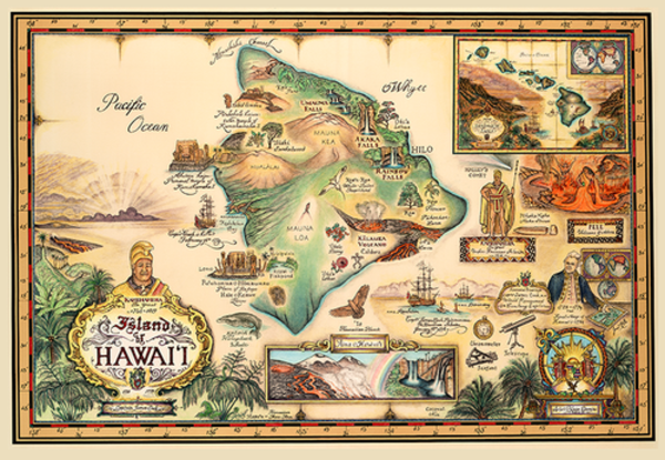 Signed Art Prints | Map of Hawaii by Blaise Domino