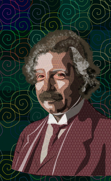 Albert Einstein Photographic Print by Peter McClard at VectorArtLabs.com