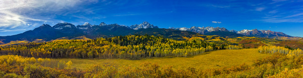 Wide Panoramic Photo of Mount Sneffels & Range Southwestern Colorado