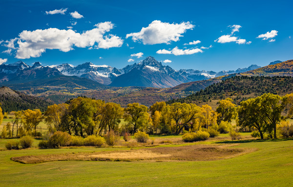 Colorado Landscape Photo of Mt Sneffels Mountain Range From Highway 62