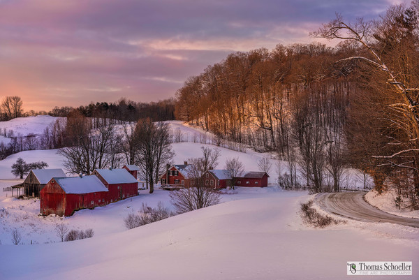 Winter in Vermont landscape prints/Rural countryside fine art photography from New England by Thomas Schoeller