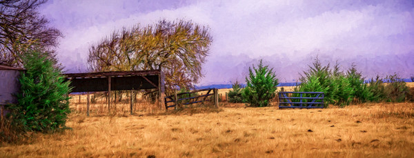 Ranch Harvest Landscape Painting Pano|Wall Decor fleblanc