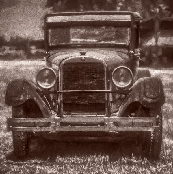 Classic 1900s Old Ford Model T Sepia|AWall Decor fleblanc