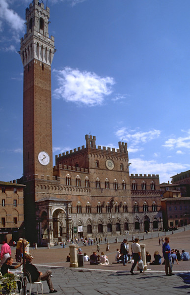 The Campo in Sienna, Italy