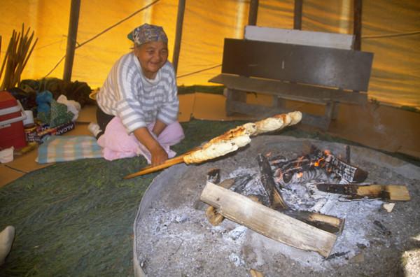 Making Bannock Bread