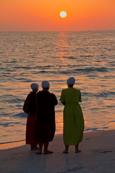Menonite Women on the Beach
