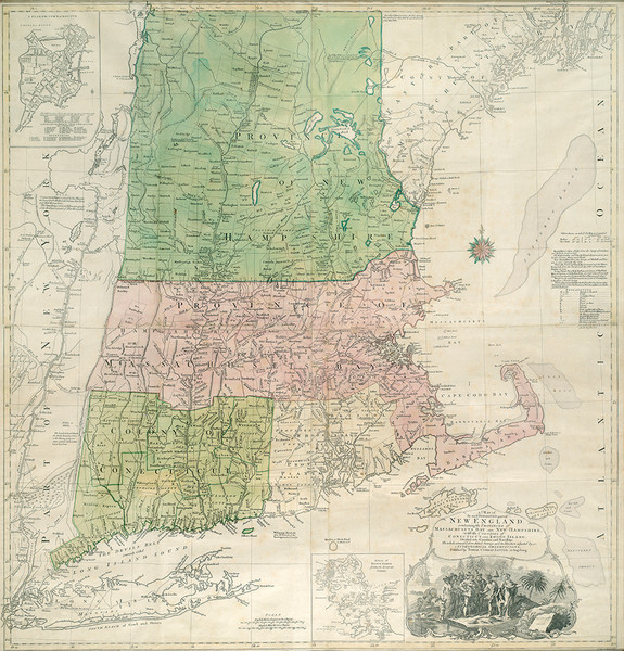 Map of New England 1776