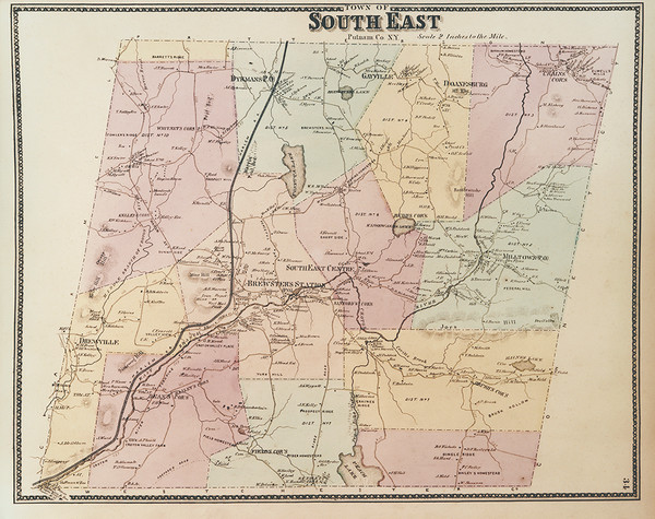 Map of South East, New York