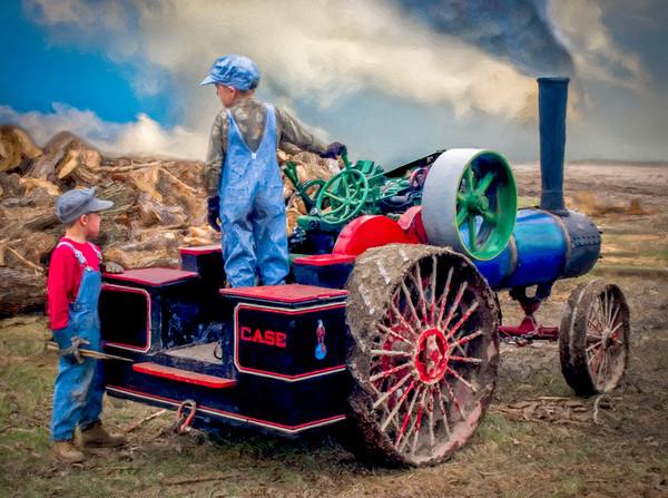 Case Steam Tractor Kids 1/2 Scale Decor|Wall Decor fleblanc
