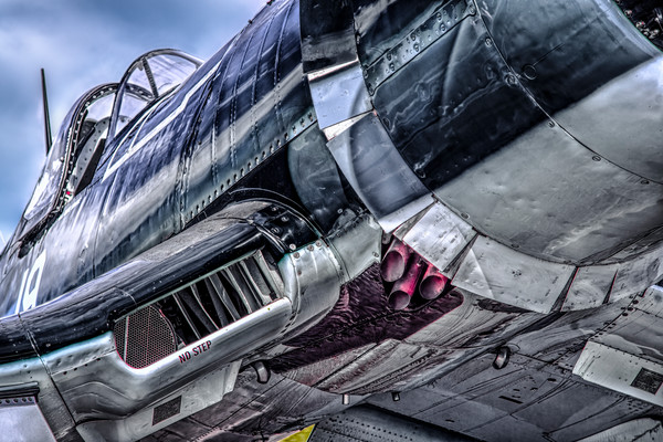 Chance Vought F4U Corsair Wing Closeup|Wall Decor fleblanc
