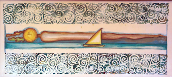 Sunset Sail Indonesia Print