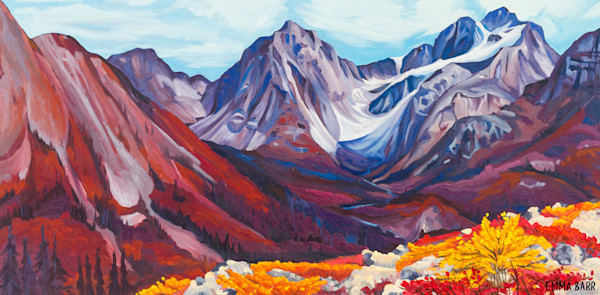 The Glacier deluxe canvas art print by Emma Barr