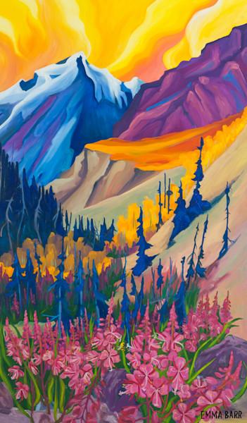 Beauty in Kluane Sunset | Deluxe Canvas Print |  Emma Barr Fine Art