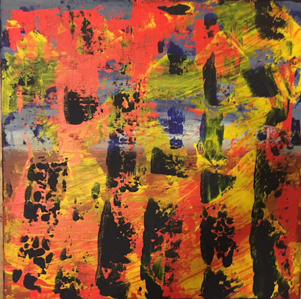 Community abstract expressionist painting by Christina Culverhouse at Intuitive Creations