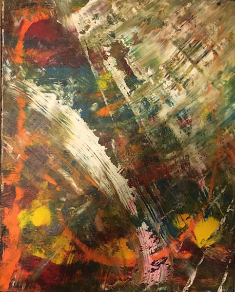 Brushless 1created by Austin, Texas abstract artist, Christina Culverhouse|Intuitive Creations