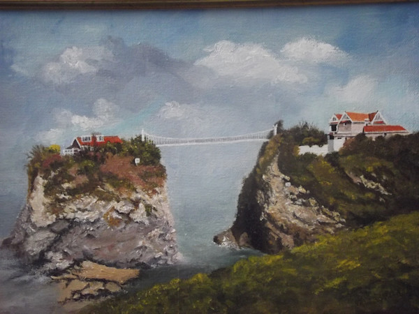 Towan Beach and Suspension Bridge, Newquay, Carnwall