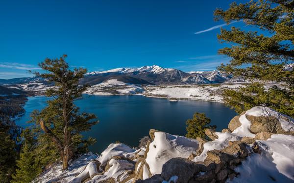 Summit County Colorado Snow at Peak 10 and Lake Dillon