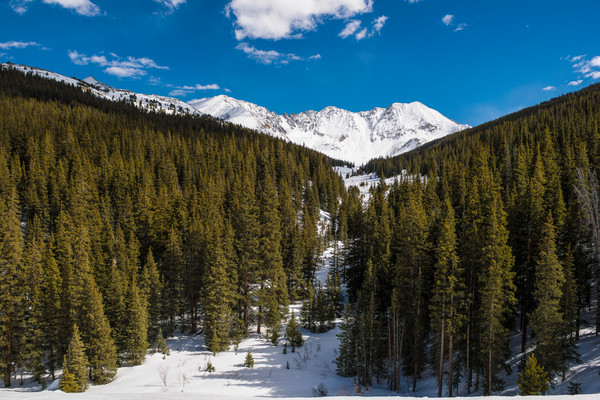 Photograph of Snow Covered Fletcher Mountain & Atlantic Peak Summit County Colorado