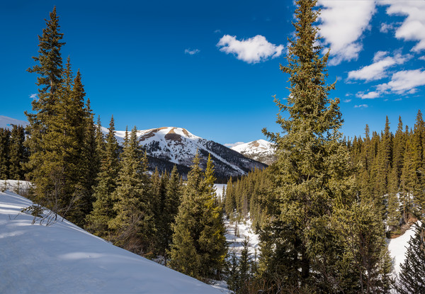 The Nacho & Jacque Peak Southwest of Copper Mountain Ski Resort in Summit County Colorado
