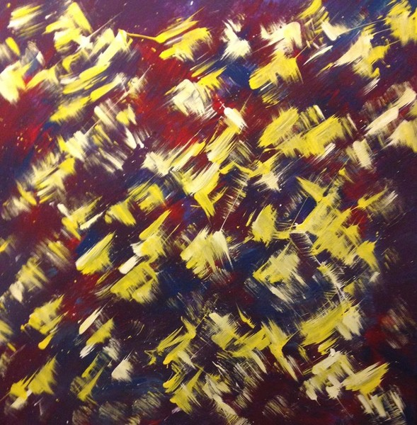 Yellow Butterfly Migration-abstract expressionist art by Austin, Texas abstract artist Christina Culverhouse